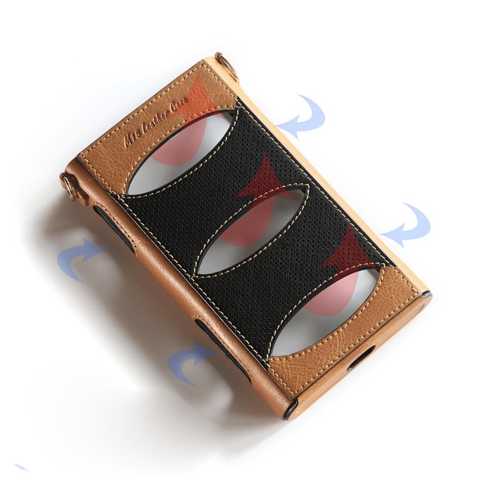 Funda protectora de cuero para reproductor de música FiiO M15 carcasa de doble color con cordón para reproductor de música FiiO M15