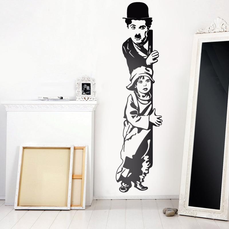 Художественный Декор chaplin детские настенные наклейки виниловые кинозвезды настенные наклейки украшение дома для гостиной Детская комната A13-066