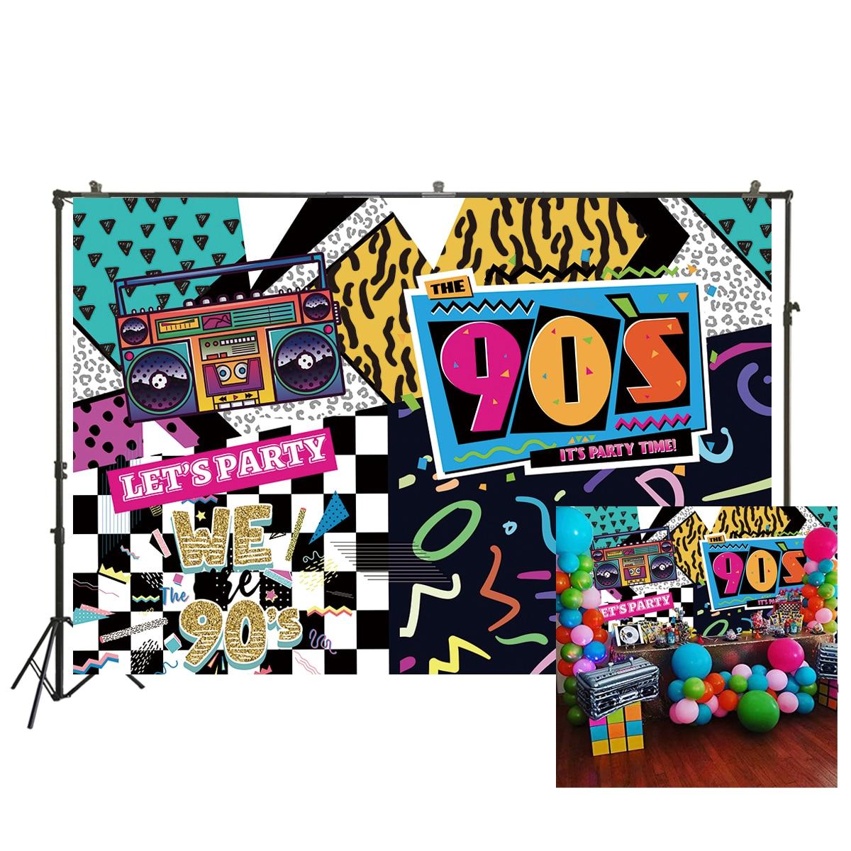 90s Graffiti pared fotografía telón de fondo Hip Hop foto estudio Fondo 90s cumpleaños fiesta decoraciones W-2188