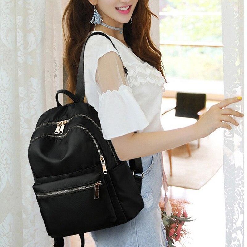 Teenage Girl Children Backpacks Travel Bag For nylon Backpack Women Backpack Fashion Women Shoulder Bag solid color School Bag