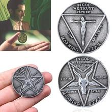 TV Show Lucifer bedingstar Satanic marathon coste Cosplay Coin Commemorative Coin Badge Halloween accessori in metallo Prop Coin