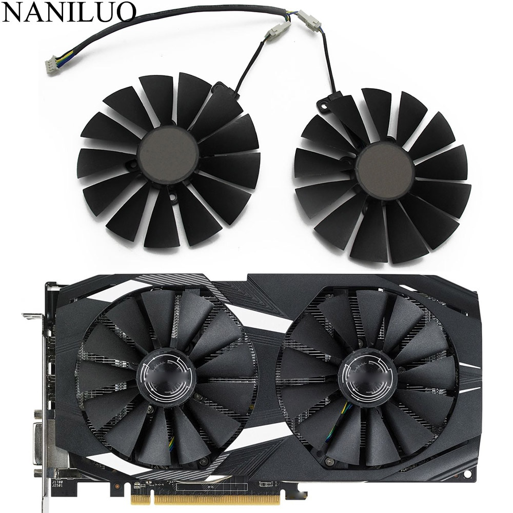 95MM PLD10010S12H T129215SM 0.30AMP RX580 Fan For ASUS AREZ Radeon RX 580 DUAL OC Graphics Card Cooling Fan