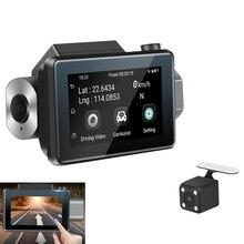3 pouces 1080P Hd voiture Dvr caméra Android 5.0Gps enregistreur enregistreur Wifi double lentille enregistrement vidéo fonction surveillance de stationnement