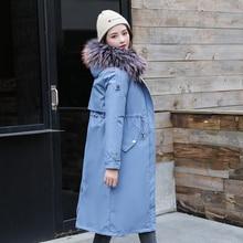 Warm Fur Lining Hooded Winter Jackets For Women Big fur collar Solid Female Jacket Coat Plus Size Sl