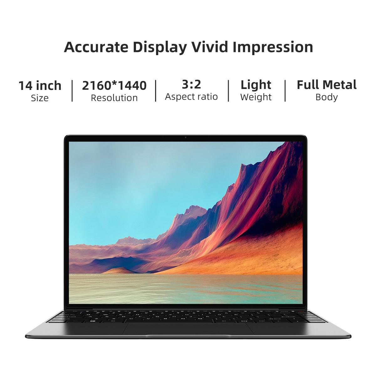 CHUWI CoreBook X Intel Core i5-8259U Laptops 14 Inch 2160x1440 Resolution DDR4 8GB 512GB SSD Winddows 10 Computer 46.2W Battery 4