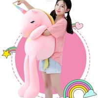 60 160cm unicorn plush toys cute rainbow horse soft doll unicorn stuffed animal soft toy pillow for children gift for girlfriend