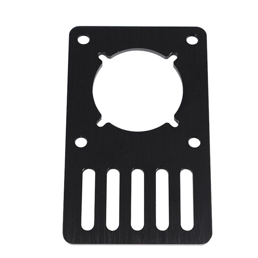 Accessories Machine CNC 3D Printer Parts Black Anodized Aluminum Professional Stepper Motor Mount Plate Office For NEMA 23