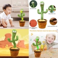 cactus toy that can sing and dance 120 english song learn to speak light emitting unique head toy early education educationa toy