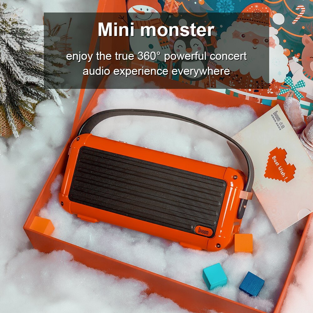 Divoom Mocha 40W Superior Bass Portable Wireless Bluetooth Speaker Retro Design 6 Drivers for 25h playtime Smart Home Decoration enlarge