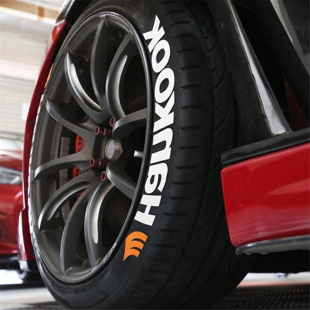 Words Car Tire Stickers Car Tire Wheel 3D Logo Personalized Decal Sticker Auto Styling Wheel Label Universal For Auto Motorcycle