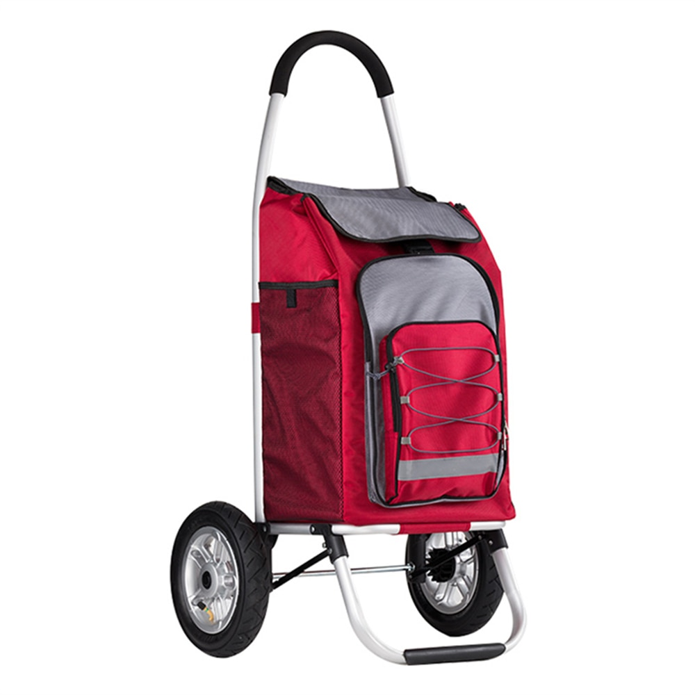 Foldable Utility Cart Stair Climber Wheeled Rolling Crate Collapsible Handcart Rolling Utility Cart Folding Shopping Bag