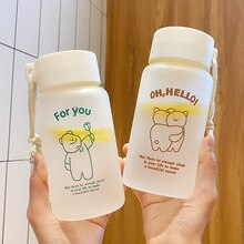 500ml Creative Frosted Plastic Water Cup Children Men and Women Portable Portable Accompanying Cup L