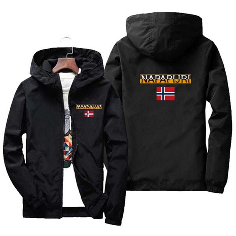 Новинка 2021, Мужская демисезонная куртка на молнии, повседневная куртка-бомбер с капюшоном, модная ветровка, мужская куртка 5XL, 6XL, 7XL