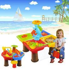 Sommer Schreibtisch Graben Pit Für Kinder Eimer Outdoor Kinder Meer Strand Spielzeug Set Wasser Sanduhr Spielen Sand Tisch Garten