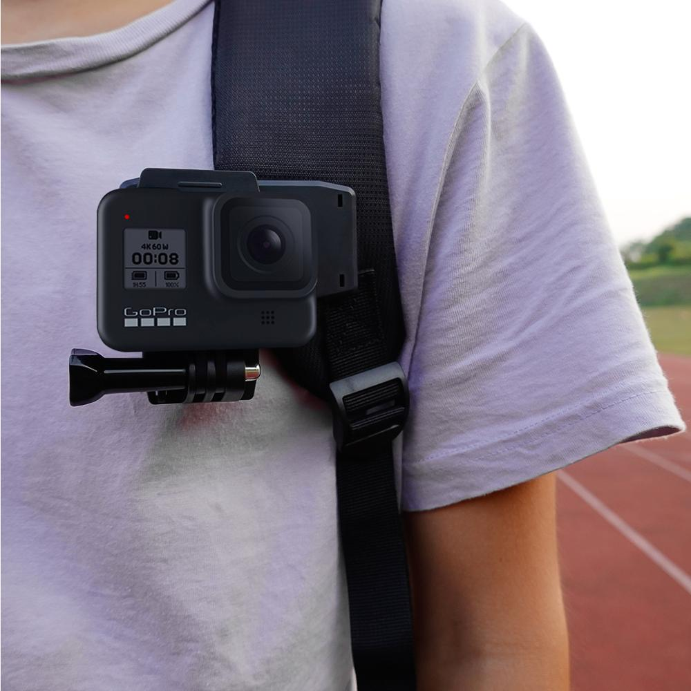 STARTRC Backpack Clip Sport Camera Holder For Osmo Action For GoPro 4/5/6/7/8 Black For Insta360 One X & EVO Sport camera