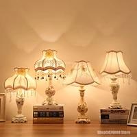 Lampe de Table en tissu de resine europeenne  Art deco moderne LED  luminaire decoratif  pour chambre a coucher  salon  bureau
