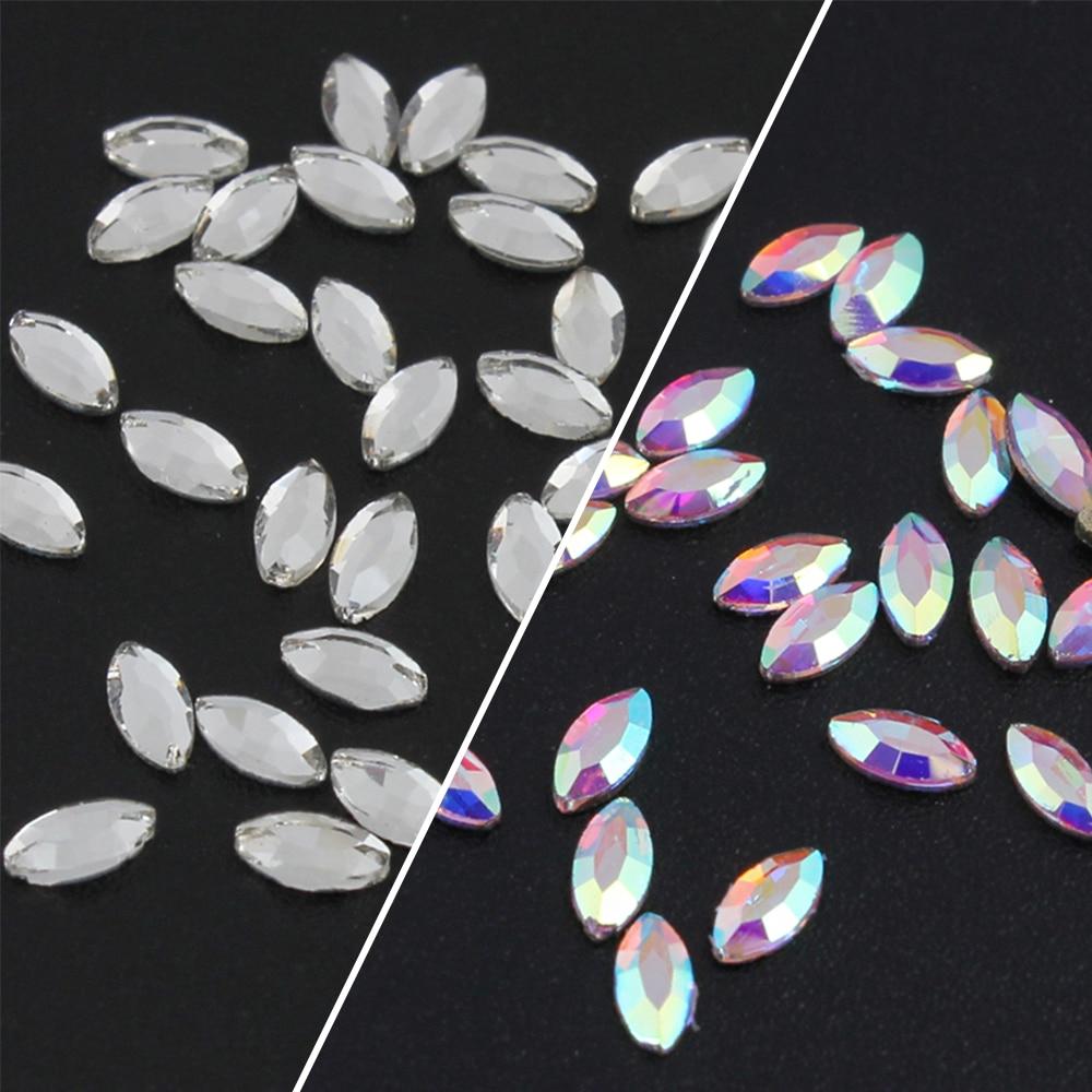 30 шт. маленькие конские глазки стразы для дизайна ногтей Стразы украшения 3d радужные алмазные ювелирные изделия Сердце Подвески блестящие ...