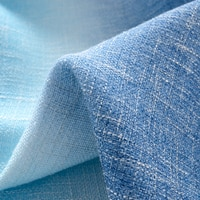 Modern Gradient Blue Stripe Curtain for Living Room Linen Voile Sheer Fabric Drape Shade for Bedroom Window 109&C
