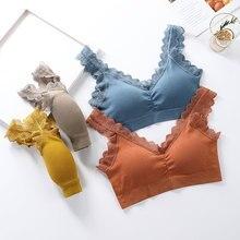 Women Tank Crop Top Seamless Underwear Lace Crop Tops Sleeveless Camis Women Sexy Lingerie Padded Camisole Femme