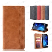 luxury leather flip case for doogee n20 pro n30 y9 plus x95 invisible holder with card holder wallet shockproof cover coque capa