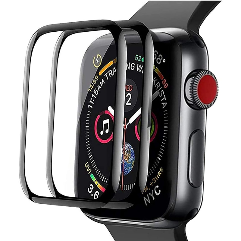 soft glass protector for apple watch series 6 se 5 4 40mm 44mm hydraulic anti fingerprint film for apple iwatch 3 2 1 38mm 42mm 3D Waterproof Screen Protector for Apple Watch 5 4 3 38MM 40MM 44MM 42MM Not Tempered Soft Glass Film for Series Iwatch 4/5/6/SE