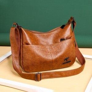 2020 new women's bag brand high-quality leather handbags luxury designer shoulder bag classic large-capacity messenger bag