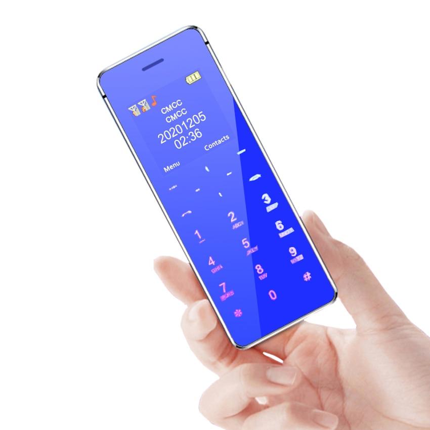 Card Mini Mobile Phones bluetooth dialer dual SIM small phone Ultra Slim Cellphone FM MP3 MP4 Unlock sync music phonebook