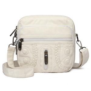 New fashion soft leather retro ladies shoulder bag light mobile phone bag small square bag