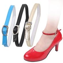 Charm Women Creative Design Convenient Leather Shoes Belt Ankle Shoe Tie Lady Strap Lace Band For Ho