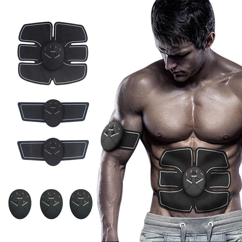 Abdominal Muscle Stimulator Hip Trainer Toner Abs EMS Fitness Training Gear Machine Home Gym Weight Loss Body Slimming Machine fitpad smart abs training multi function ems muscle stimulation hous abdominal muscles intensive training loss slimming massager