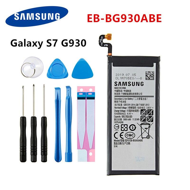 Batería original EB-BG930ABE SAMSUNG de 3000mAh para Samsung Galaxy S7 SM-G930F G930FD G930 G930A G930V/T G930FD G9300 + herramientas