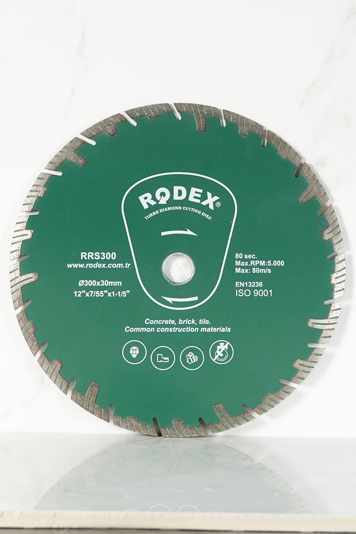 Rodex RRS300 Channel Turbo Diamond Cutting Disc for Marble, Brick, Granite, Stone 300mm