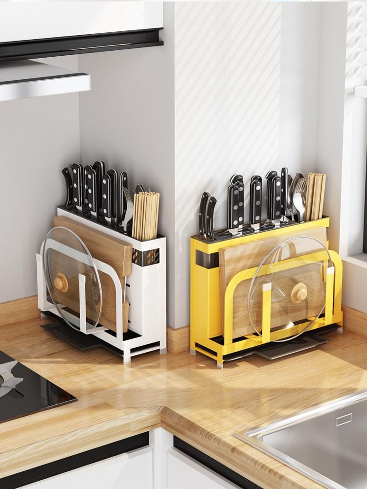 Кухонные принадлежности, подставка для инструментов, держатель для ножей, кухонная стойка для ножей, подставка для доски, многофункциональ...
