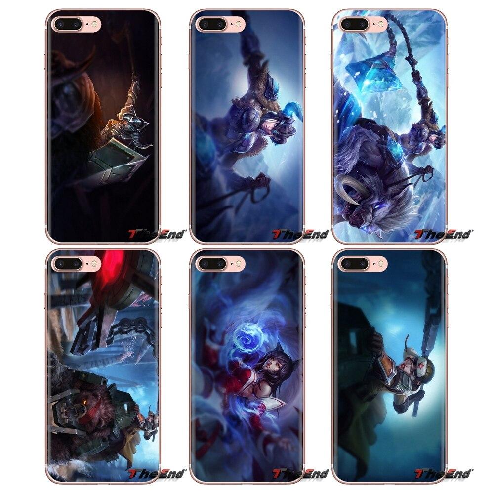 League of Legends Ahri LOL Sejuani Silicone Caixa Do Telefone Para Samsung Galaxy S3 S4 S5 Mini S6 S7 Borda S8 s9 S10 Plus Nota 3 4 5 8 9