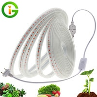 Светодиодный светильник для выращивания растений, полный спектр, водонепроницаемый, ac220в, светодиодный, 2835 Светодиодный, фитолампа для раст...