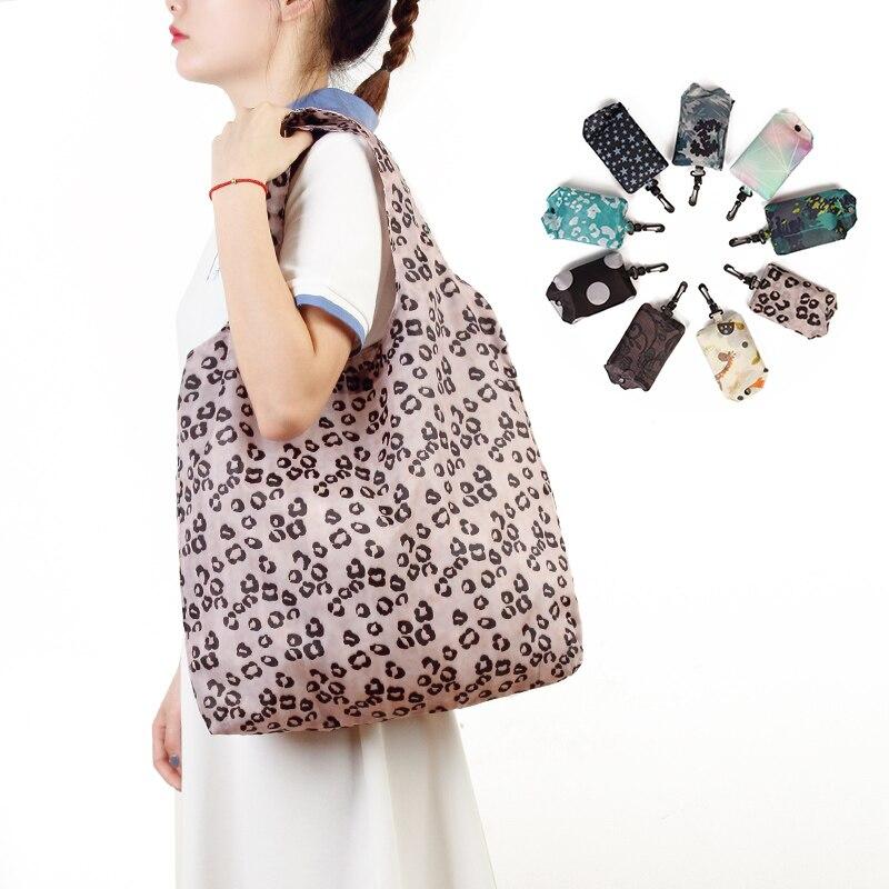 Multi couleur pliant sac à provisions écologique dames cadeau pliable réutilisable sac fourre-tout Portable voyage sac à bandoulière Premium