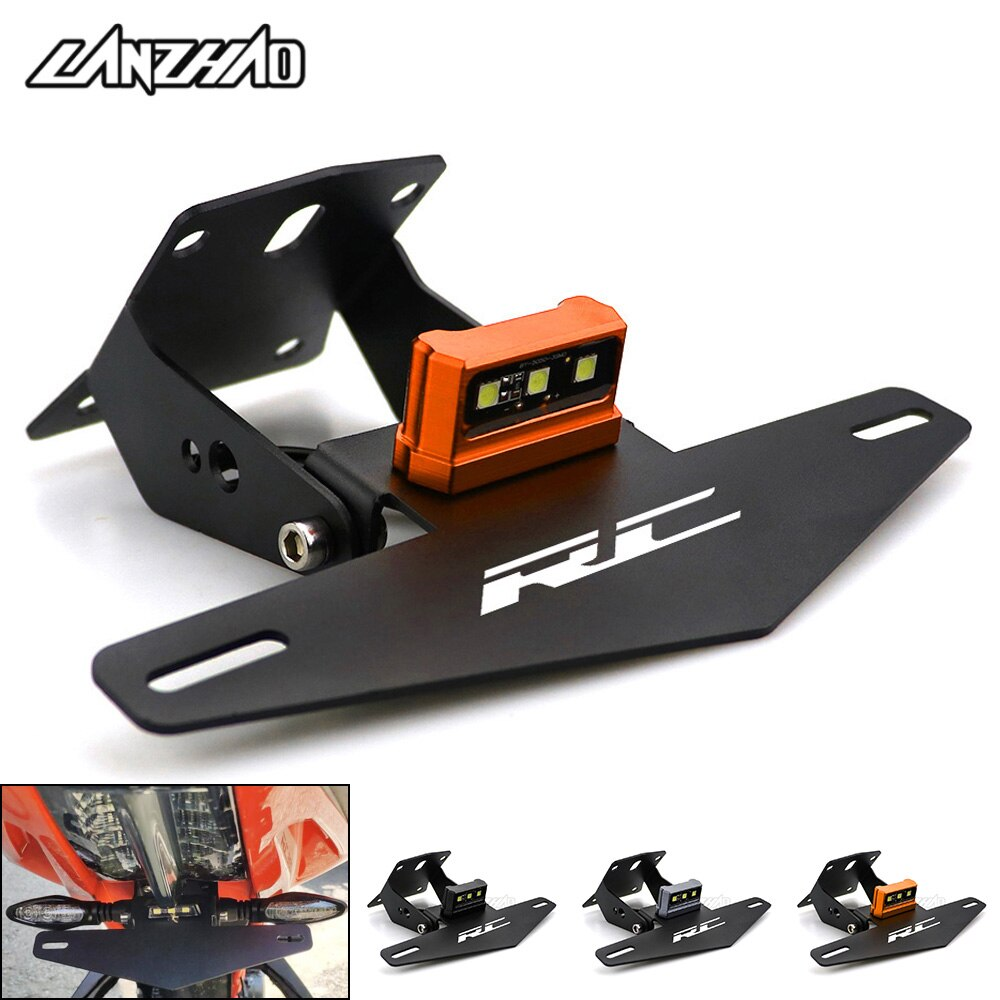 AliExpress - RC Motorcycle License Plate Bracket Holder with LED Light Indicator for KTM RC 250 390 2013 2014 2015 2016 2017 2018 2019 2020