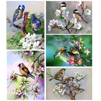 Peinture diamant theme Animal oiseau  broderie complete 5d  perceuse carree  image en strass  decoration de la maison