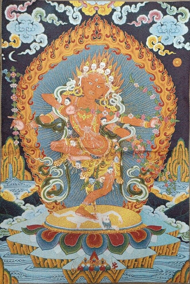 ibet antique buddha meditation thangka silk brocade tibetan buddha 36 Tibet Tibetan Embroidered  Cloth Silk Buddhism Kurukulla Tangka Thangka Mural Buddha Home Decor
