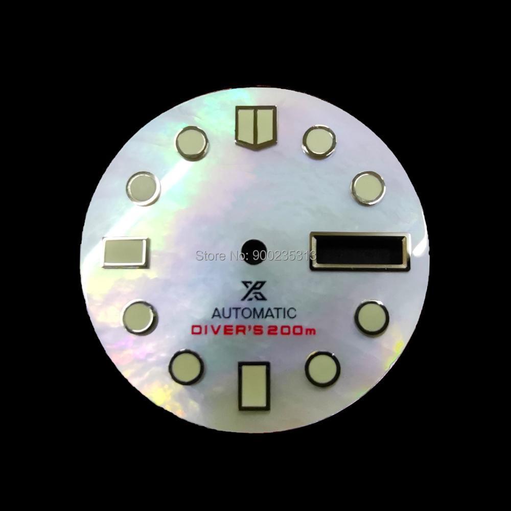 Fabricant de cadran SeikoYuanzu accessoires de montre SKX007/009/SRP21j abalone modification universelle clou lumineux coquille mère Yuanzu