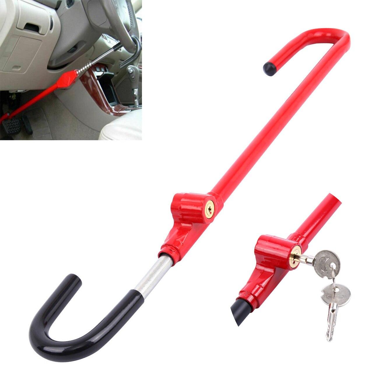 Samger Steering Wheel Locks Anti Theft Lock Universal Car Pedal Lock Anti Theft Steering Wheel Security System Auto Accessories