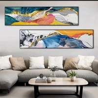 colorful canvas paintings abstract slender banner posters and prints wall art decoration pictures living room bedroom home decor
