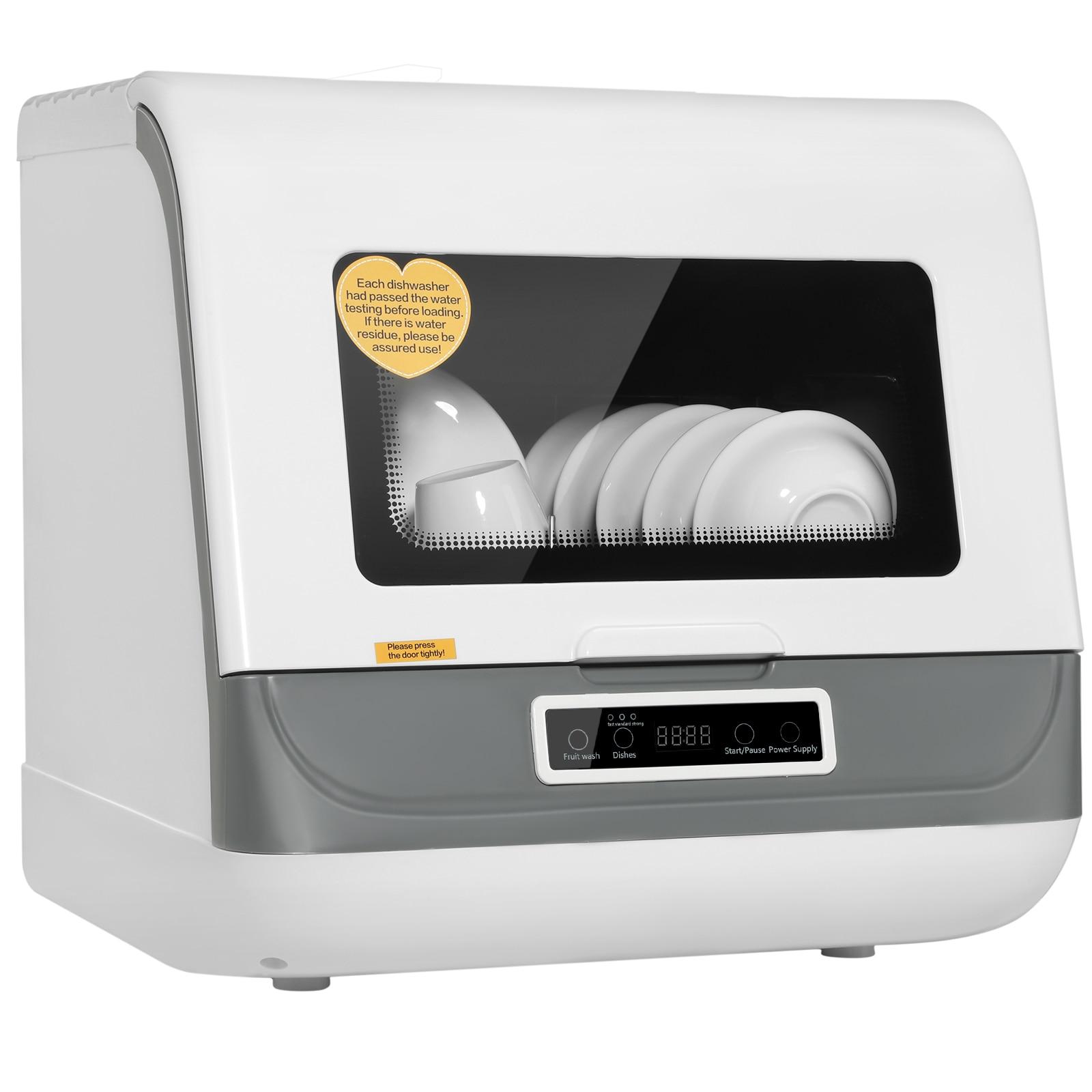 Home Free Installation Desktop Mini Dishwasher High Temperature Sterilization Intelligent Countertop Table Dish Washer Machine