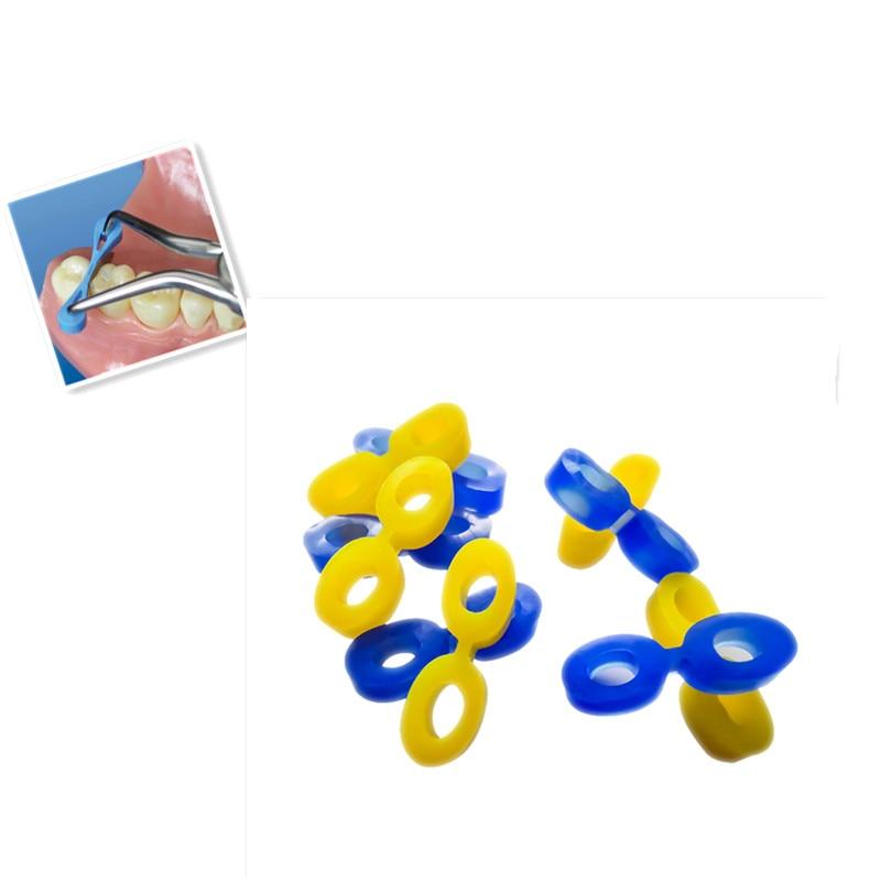 80 шт./кор. стоматологические эластичные резиновые фиксирующие клиновидные автоматические стоматологические клиновидные Матричные матриц...