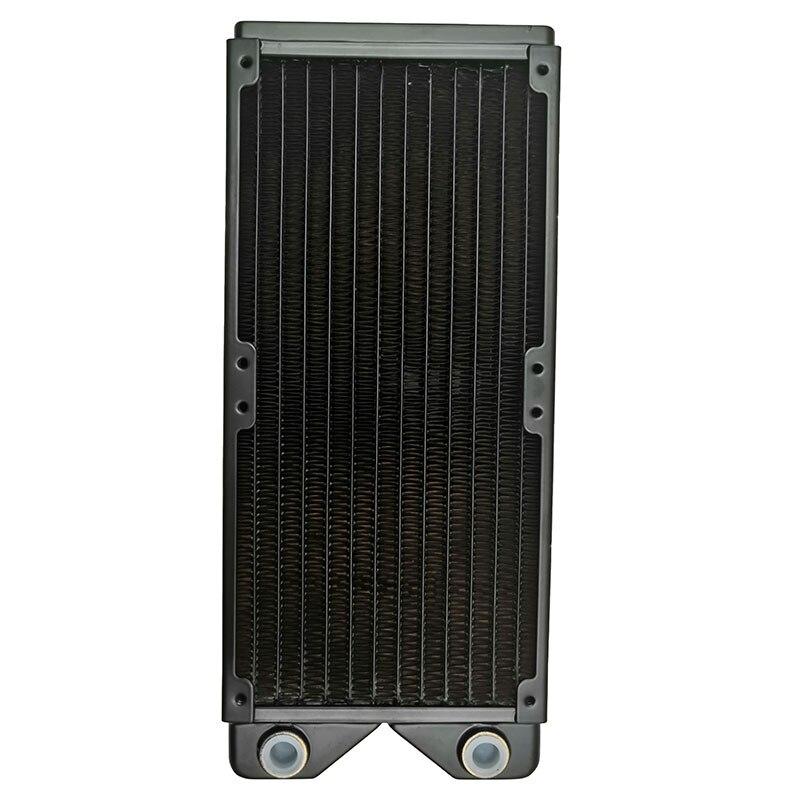 Magicool-مبرد حرارة للكمبيوتر ، مبرد نحاسي أسود G1/4 بوصة 240 مللي متر 3 ، مروحة 12 سنتيمتر ، مسامير M3 بسمك 27 مللي متر