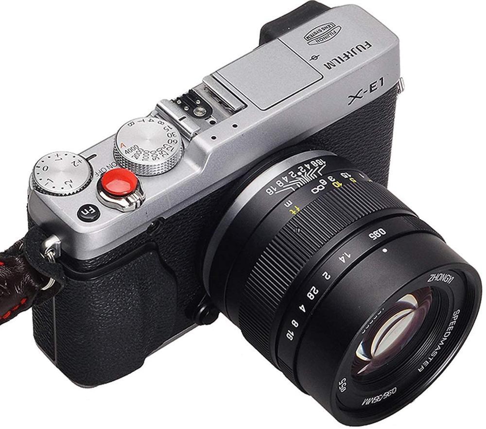 Zhongyi mitacon speedmaster 35mm f0.95 grande abertura lente portátil compacto para fuji x montagem APS-C câmeras sem espelho-pro ii