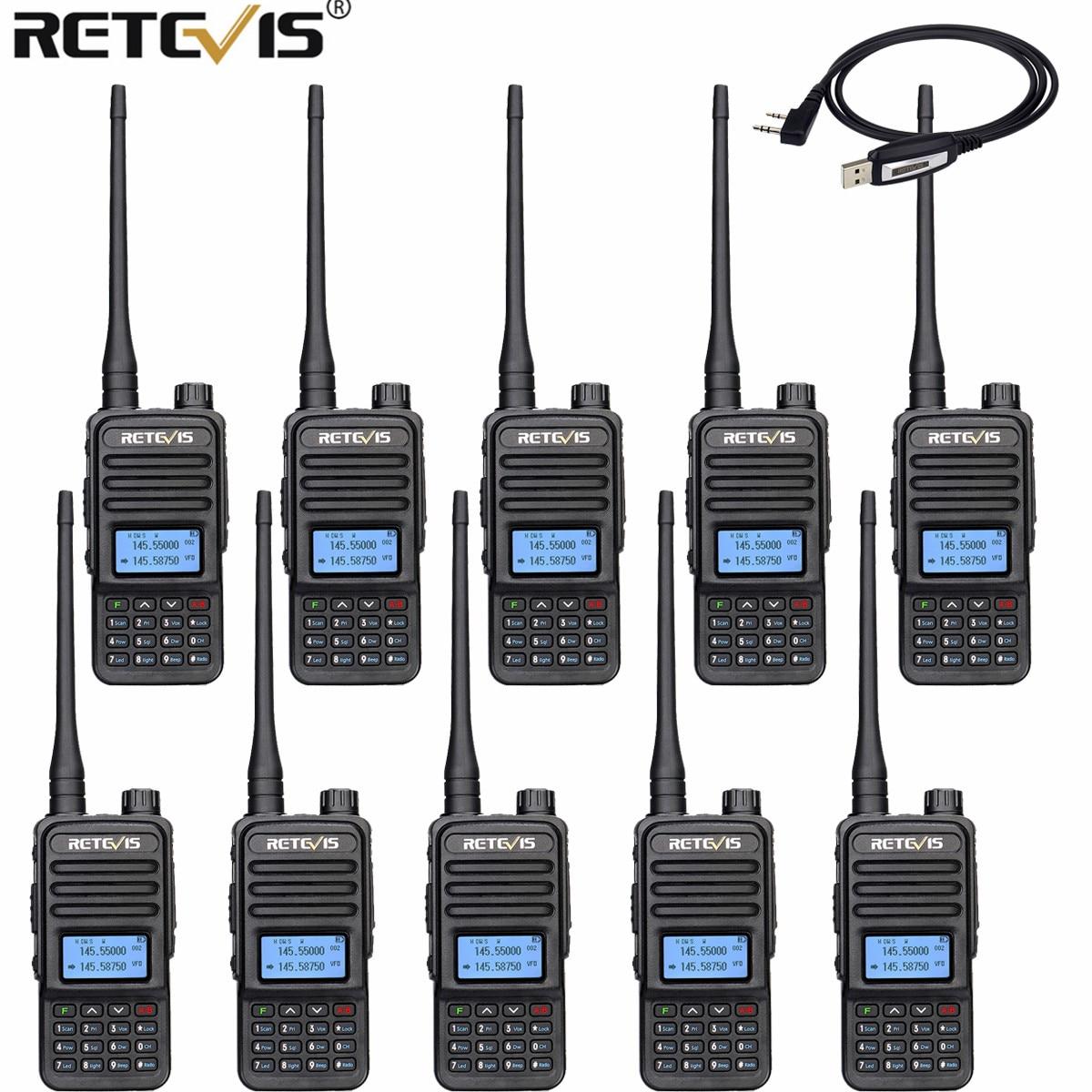 Портативная рация Retevis RT85, 10 радиостанции VOX FM