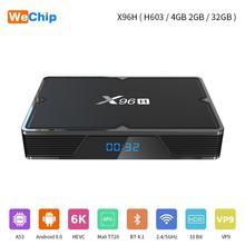 Wechip X96H Android 9.0 Tv Box 2 Gb 4 Gb Allwiner H603 Quad-Core Media Player Wifi Draadloze 3 usb-poort Youtube 4K Hd Set Top Box