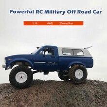 RC WPL C24 araba 116 4WD radyo kontrol Off-Road Mini RTR kiti kaya paletli elektrikli Buggy hareketli makine çocuk s oyuncaklar