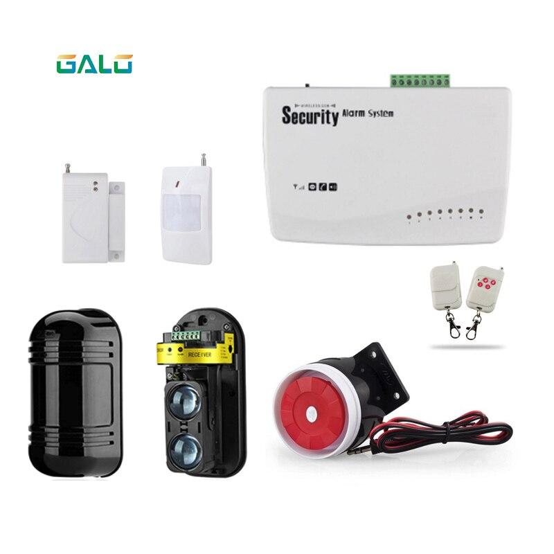 Sistema de alarma GSM inalámbrico frontal para el hogar, sistema de alarma de protección de pared con cable, sistema de alarma para el hogar para vallas o granjas